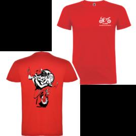 Camiseta manga corta unisex esqueleto Salid@s en moto